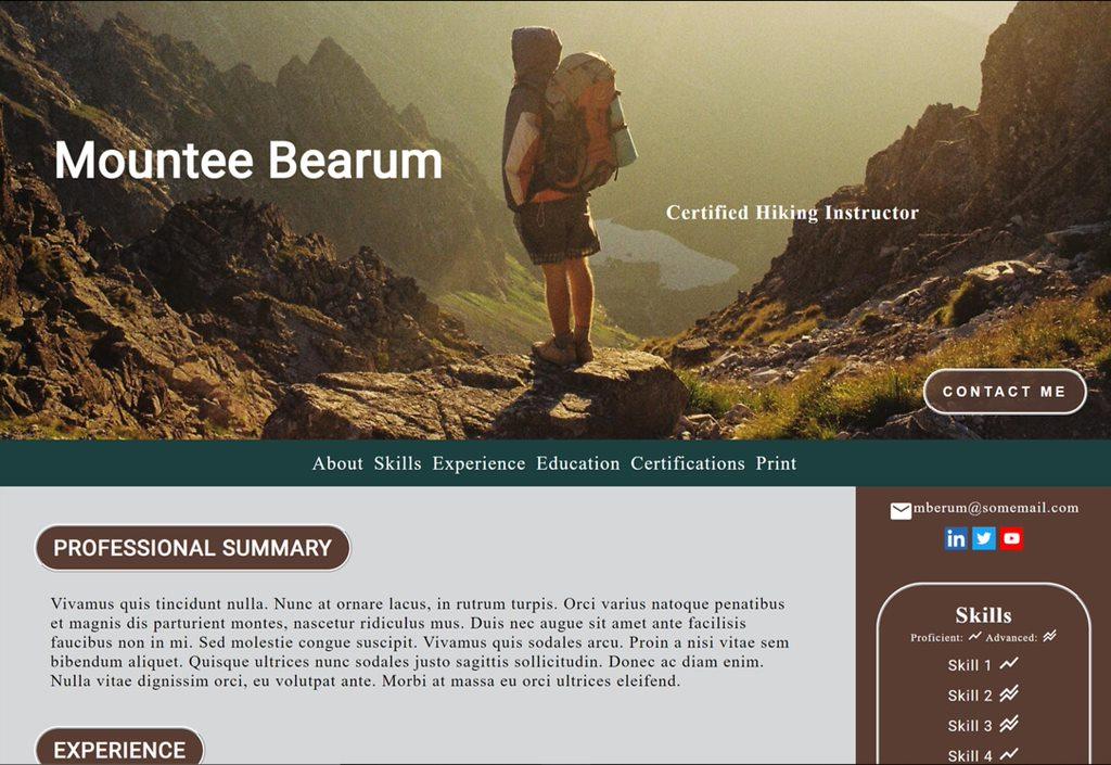 Hiking Instructor Resume
